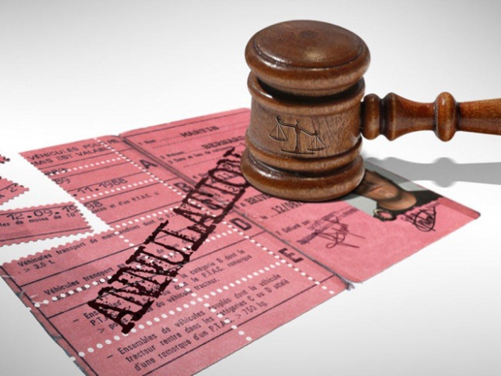 resiliation pour annulation permis